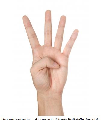 4 fingers