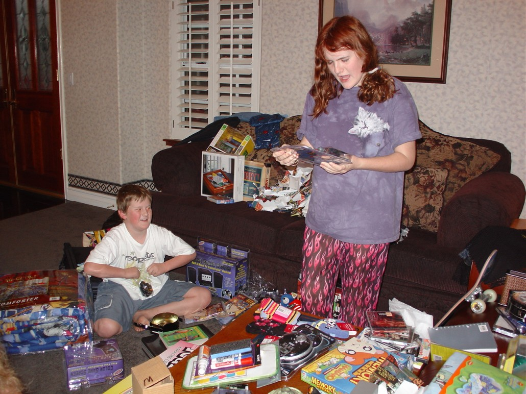 Misner Family Christmas Day Gift-Unwrapping Mayhem of Christmases Past