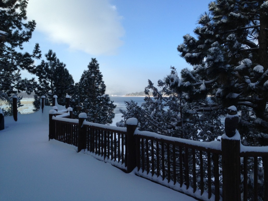 The Current View from My House in Big Bear, CA