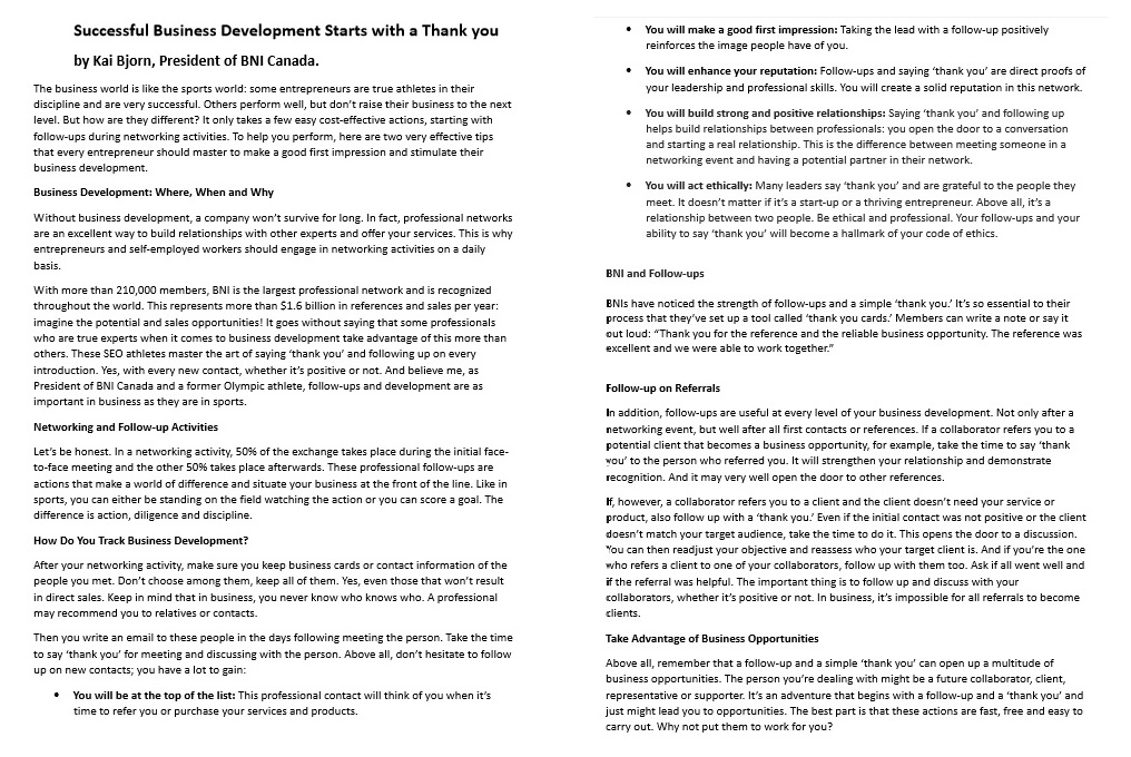 Follow up archives dr ivan misner httpslinkedinpulsesuccessful business development starts thank you ivan misner international networking week 2017 expocarfo Image collections