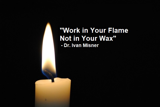 working in your flame