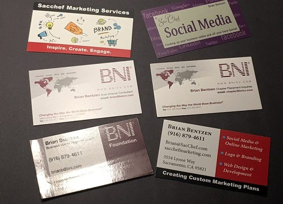 not need your business card